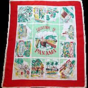 Vintage Souvenir scarf of Panama