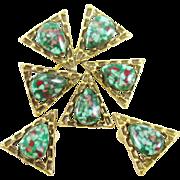 EMMONS modernist pin earrings set BOOK