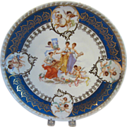 REDUCED Large Antique Victoria Carlsbad Austrian Charger Cabinet Plate Signed Carl Larsen