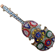 Large Mosaic Pin -  Music Instrument