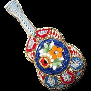 Large Vintage Mosaic Guitar Pin