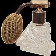REDUCED Czech Cut Clear Glass Perfume