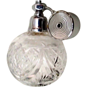 Vintage French Cut Glass Perfume w Marcel Franck Atomizer