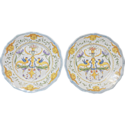 Pair of Italian Faience/Majolica Plates