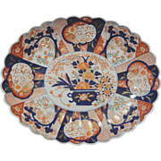 Porcelain Japanese Oval Imari Charger