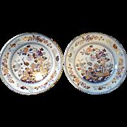 Pair of Davenport Ironstone Plates