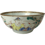 SALE Chinese Export Porcelain Mandarin Bowl with Figures Qianlong (1736-1795)