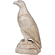 "SALE Large 33""Cast Aluminum White Eagle Mascot"