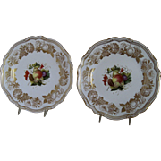 "Matching Pr. Spode Porcelain Plates ""Golden Valley Pattern"" 10 3/4"""