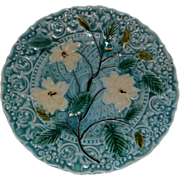SALE Vintage Villeroy Boch Turquoise Majolica Plate