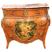 Beautiful Antique Louis XVI French Commode with Vie Martin from 1880