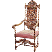 19th CENTURY FRENCH CHAIR WITH TAPESTRY