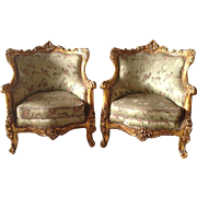 Comfortable Louis XVI pair of two Fauteuils