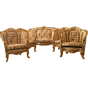 sofa and 4 chairs made in Louis XVI style in its Original French form