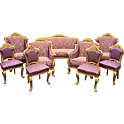 Louis XVI FRENCH 9 PIECE LIVING ROOM SET