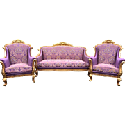 Sofa and 2 big chairs in French style