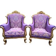 Amazing set of two lovely chairs in French style