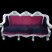 Italian design, Baroque style, sofa for 3 person seat