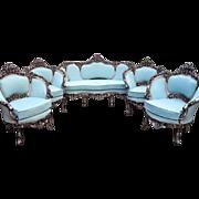 Venetian set of 4 chairs, Italian amazing look