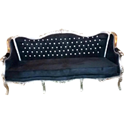 Louis XVI settee, in French style
