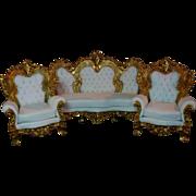 Rococo design furniture hand carving living room set