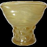 Phoenix Consolidated Glass, Honey Catalonian Spanish Knob Fan Vase, HTF