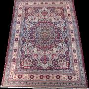 Lavar Kerman Oriental Rug , Kerman Province , S.E.  Persia, Early 20th Century , 6.4 x 4.3