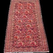 Antique Persian Malayer Oriental Rug circa 1910 , 6.6 x 3.8