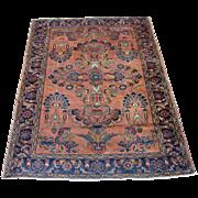 Persian Lilian Oriental Rug, Hamadan Region circa 1920 , 6.3 x 5