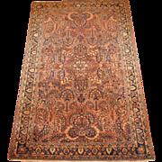 SALE Persian handmade Sarouk Oriental Rug circa 1930 , 6.5 x 4.1
