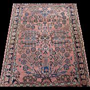 SALE Persian handmade Sarouk Oriental Rug circa 1920 , 4.9 x 3.4