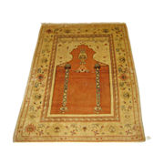 SALE Vintage handmade Turkish Oriental Rug , Carpet , Mid Century  7.1 x 5.4