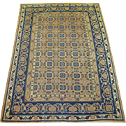 Khotan Small Carpet,Western China circa 1900 , 8.8 x 6.2