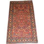 Persian Kerman Oriental Rug circa 1920 , 5.2 x 2.10