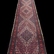 Persian handmade Bibik-Abad runner circa 1920 , 16.5 x 3.5