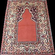 Antique Khotan Prayer Rug , East Turkestan , Sinjiang Province , Eastern China , 1st Quarter o