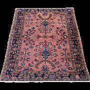 Persian Lilian Oriental Rug , Hamadan Weaving Region circa 1920 , 6.3 x 5.2