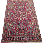 Persian Sarouk Oriental Rug , Arak District , West Central Persia ,Late 1930's , 6.6 x 4.3
