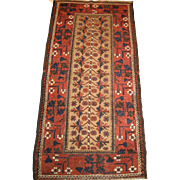 SALE Antique Baluchi Rug , Northeast Persia circa 1900 , 5.4 x 2.7
