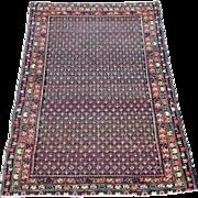 Antique Malayer Oriental Rug , Western Persia circa 1900 , 4.3 x 3.2