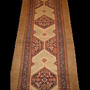 Hamadan , Camel Hair , Runner Rug , Western Persia  circa 1900 , 17.3 x 3.3
