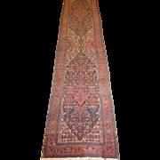 Antique Persian Bibikabad Runner,Hamedan region circa 1910, 15.4 x 3.2