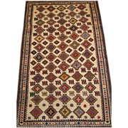 Persian Lori,Tribal Rug, 7.4 x 4.5
