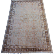 Antique Khotan Small Oriental Carpet, Sinjiang Province , Western China , Early 20th Century ,