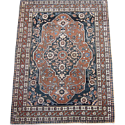 Tabriz Hadji-Jalili Small Oriental Rug , Azerbaijan , Northwest Persia , Late 19th Century , 3