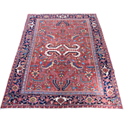 Persian handmade all-over Heriz circa 1930 , 9.9 x 7.6