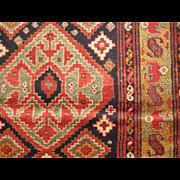 Antique Northwest Persian Runner,Azerbaijan Province,Last Quarter 19th Century, 12.3 x 3.5