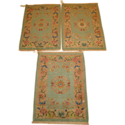 SALE Set of three matching vintage Art Deco Chinese Oriental Rugs, circa 1930, 2.10 ...