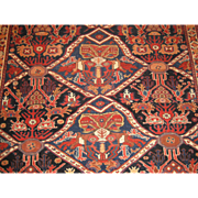 Antique Afshar Oriental Rug,Southeast Persia,Kerman province,Late 19th Century , 5 x 4.4