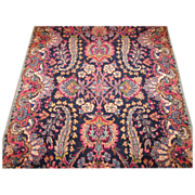 SOLD Persian handmade Kerman circa 1930 , 6.7 x 2.7